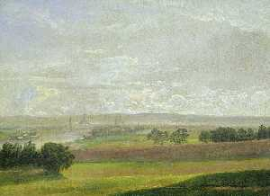 Johan Christian Clausen Dahl - The Elbe Valley near Dresden