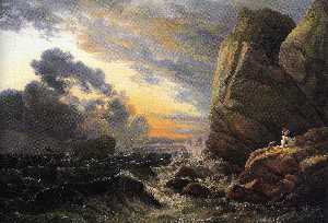 Johan Christian Clausen Dahl - Morning after a Stormy Night