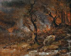 Johan Christian Clausen Dahl - Forest Fire