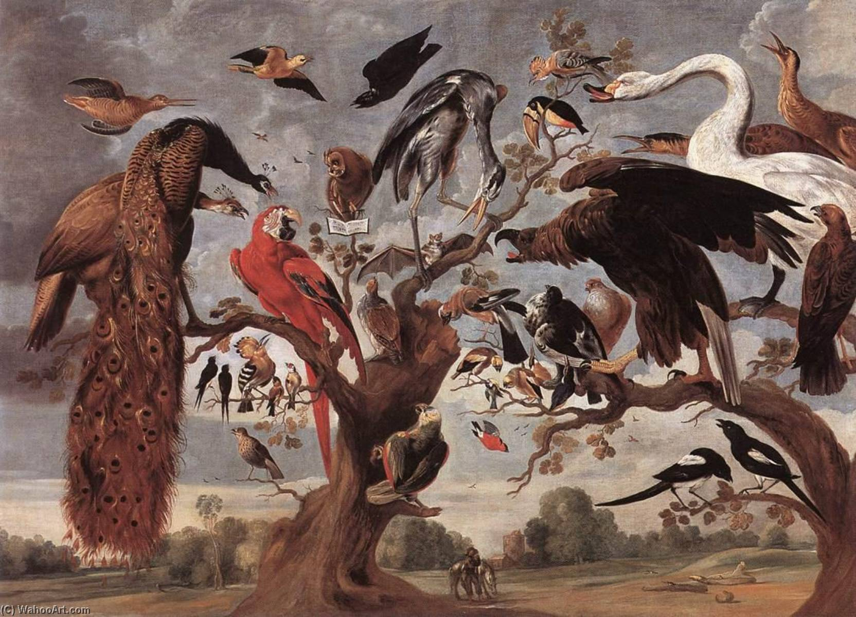 The Mockery of the Owl by Jan Van Kessel The Elder (1626-1679) | Museum Quality Reproductions | WahooArt.com