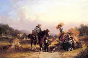 William Shayer Senior - Harvesters Resting