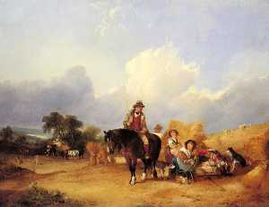 William Shayer Senior - Harvest Time