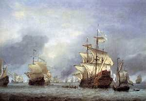Willem Van De Velde The Younger - The Taking of the English Flagship the Royal Prince