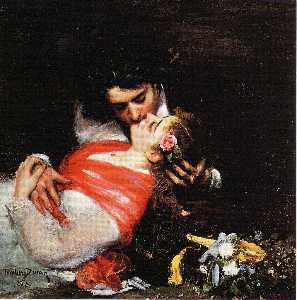 Carolus-Duran (Charles-Auguste-Emile Durand) - Le Baiser (also known as The Kiss)