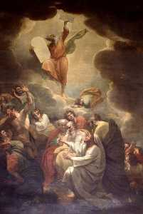 Benjamin West - Moses Receiving the Law on Mount Sinai