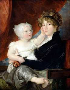 Benjamin West - Mrs Benjamin West II with Her Son, Benjamin West III