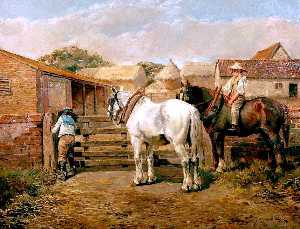 Alfred James Munnings - The Farmyard