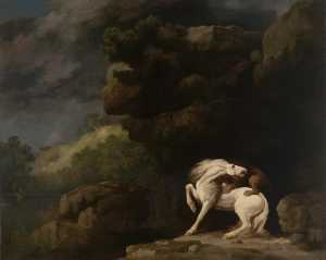 George Stubbs - A Lion attacking a Horse