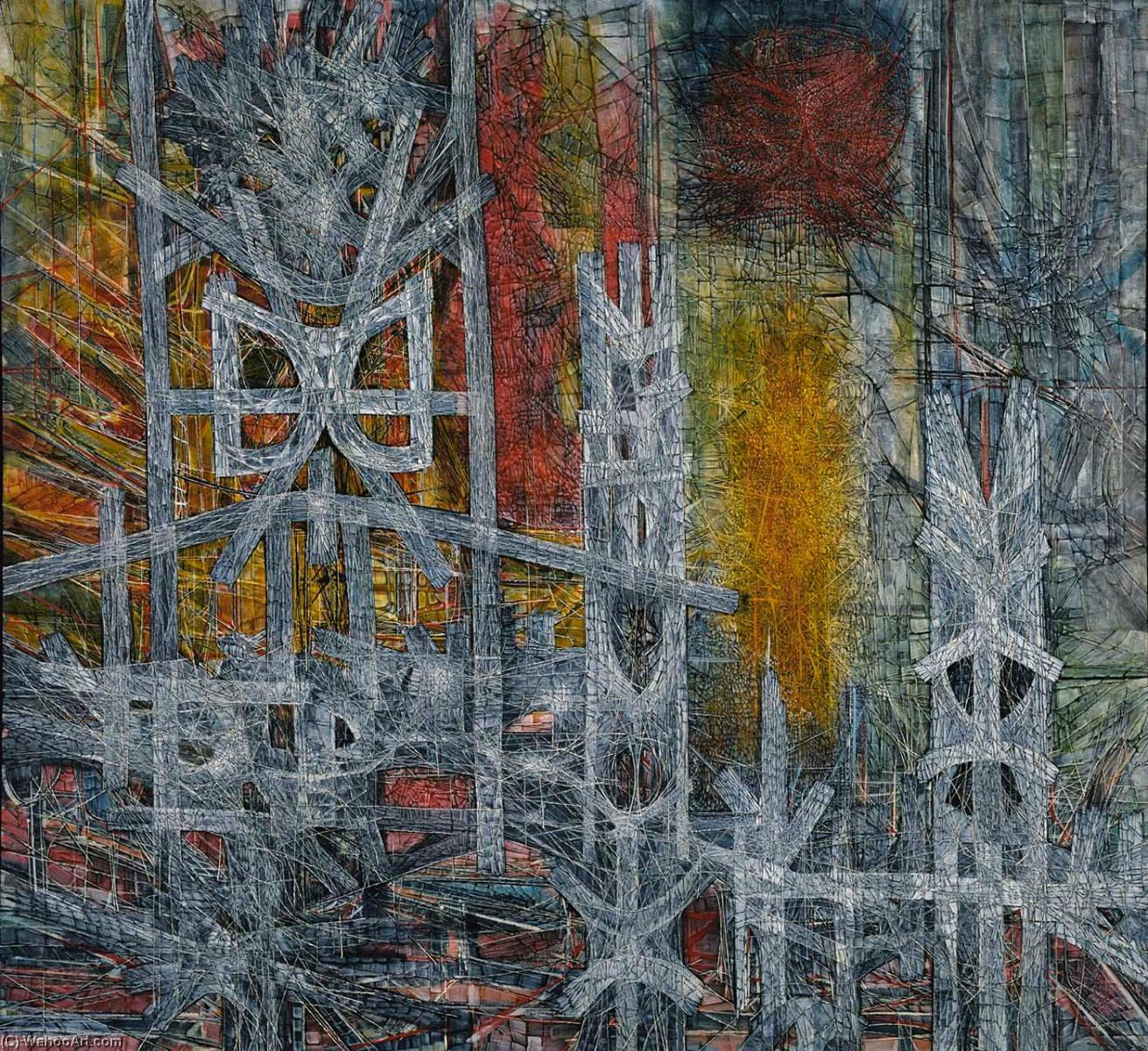 Buy Museum Art Reproductions | Silence at Sharpeville, 1962 by Jimmy Ernst (1920-1984, Germany) | WahooArt.com
