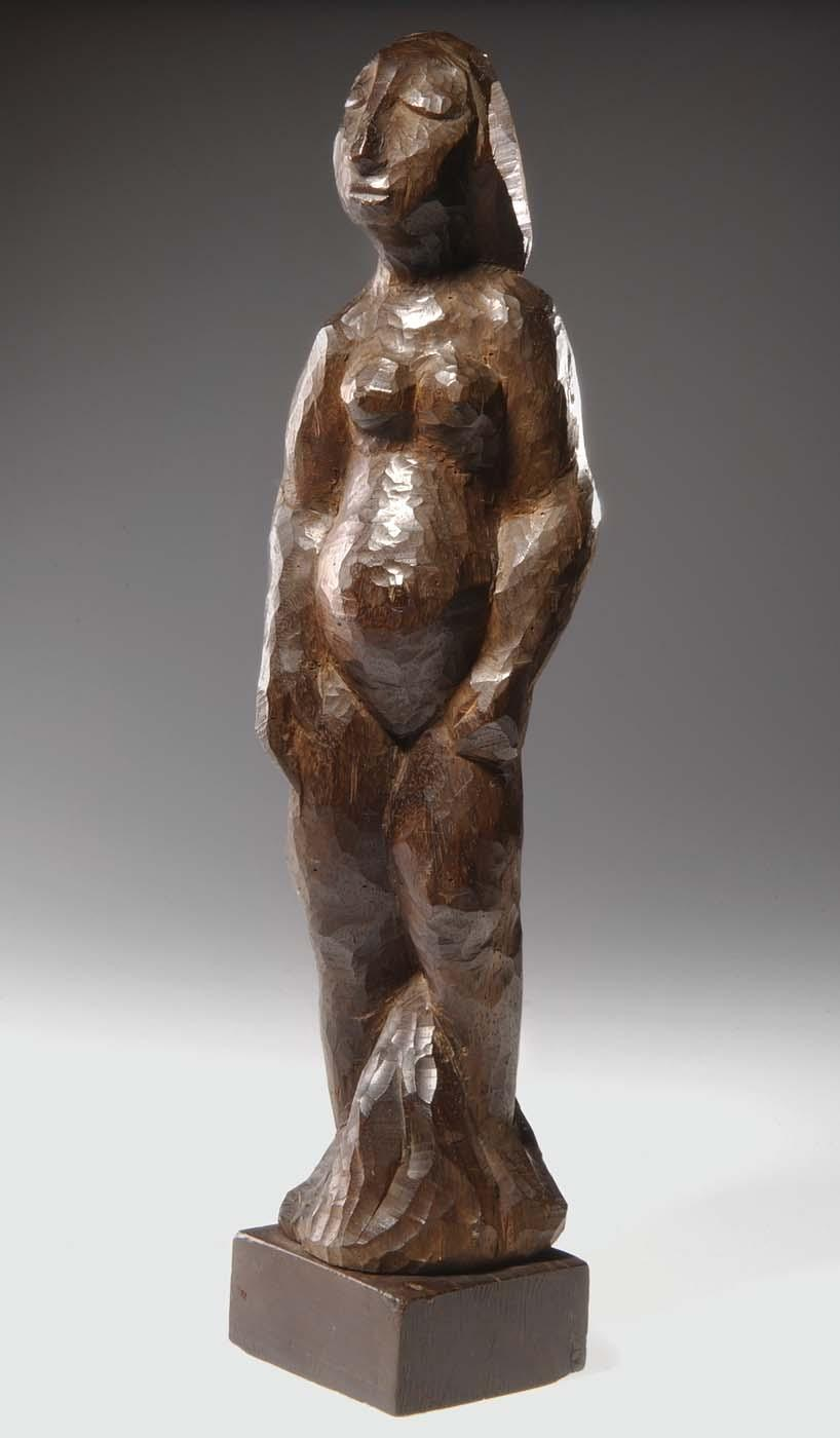 Nude in Wood, 1963 by José De Creeft (1884-1982, Spain) |  | WahooArt.com
