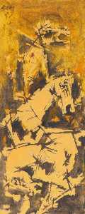 Maqbool Fida Husain - Untitled (Three Horses)