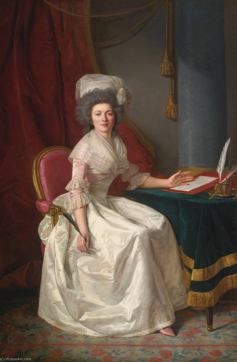 Portrait of a lady by Rose Adélaïde Ducreux (1761-1802, France) | WahooArt.com
