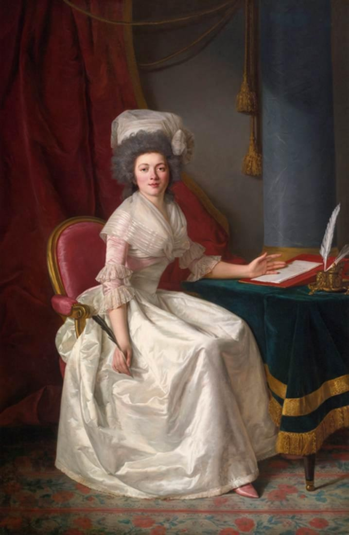 Portrait of a Lady, Oil On Canvas by Rose Adélaïde Ducreux (1761-1802, France)