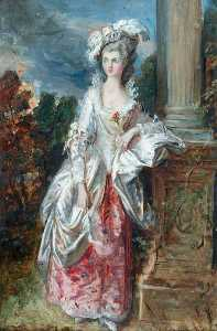 Daniel Maclise - The Honourable Mrs Thomas Graham (after Thomas Gainsborough)