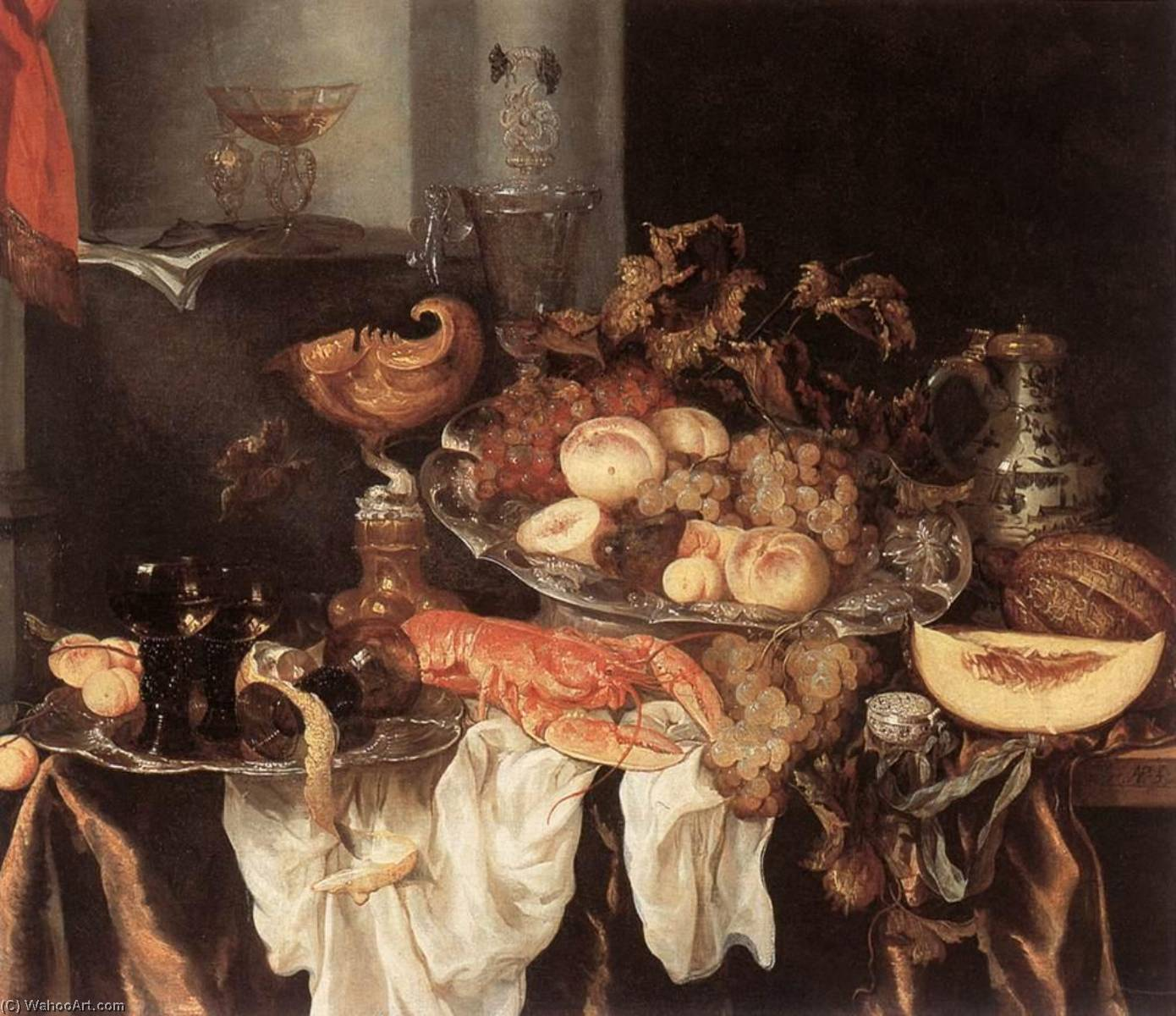 Still Life by Abraham Hendriksz Van Beijeren (1620-1690, Netherlands) | Art Reproduction | WahooArt.com