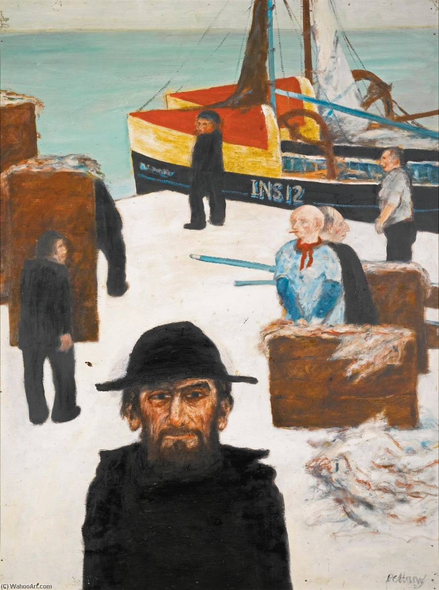 The Fisherman, 1966 by John Bellany (1942-2013) | Painting Copy | WahooArt.com