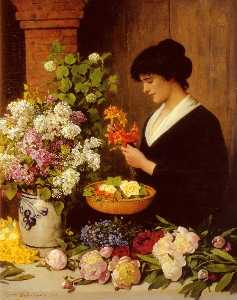 Otto Scholderer - The Flower Arrangement
