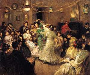 Francis Luis Mora - A Family Party, Triana, Sevilla
