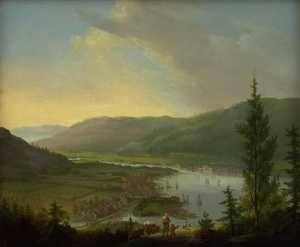 Christian August Lorentzen - View towards Drammen, Norway