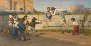 Ludwig Johann Passini - Roman Children at Play
