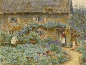 Helen Allingham (Helen Mary Elizabeth Paterson) - The Old Place