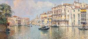 Antonio Maria De Reyna Manescau - The Grand Canal in Front of the Palazzo Balbi