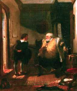 Augustus Wall Callcott - Falstaff and Simple (from -The Merry Wives of Windsor- by William Shakespeare)