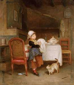 Andre Henri Dargelas - The Little Housekeeper