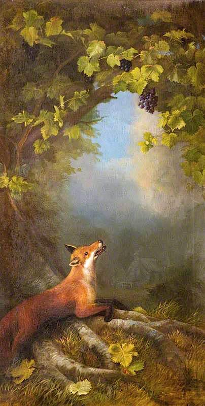 Order Museum Quality Reproductions : The Fox and the Grapes by John Bucknell Russell | WahooArt.com