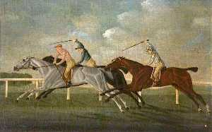 Order Museum Quality Reproductions : `Gimcrack` Beating Two Other Horses at Epsom by John Cordrey | WahooArt.com