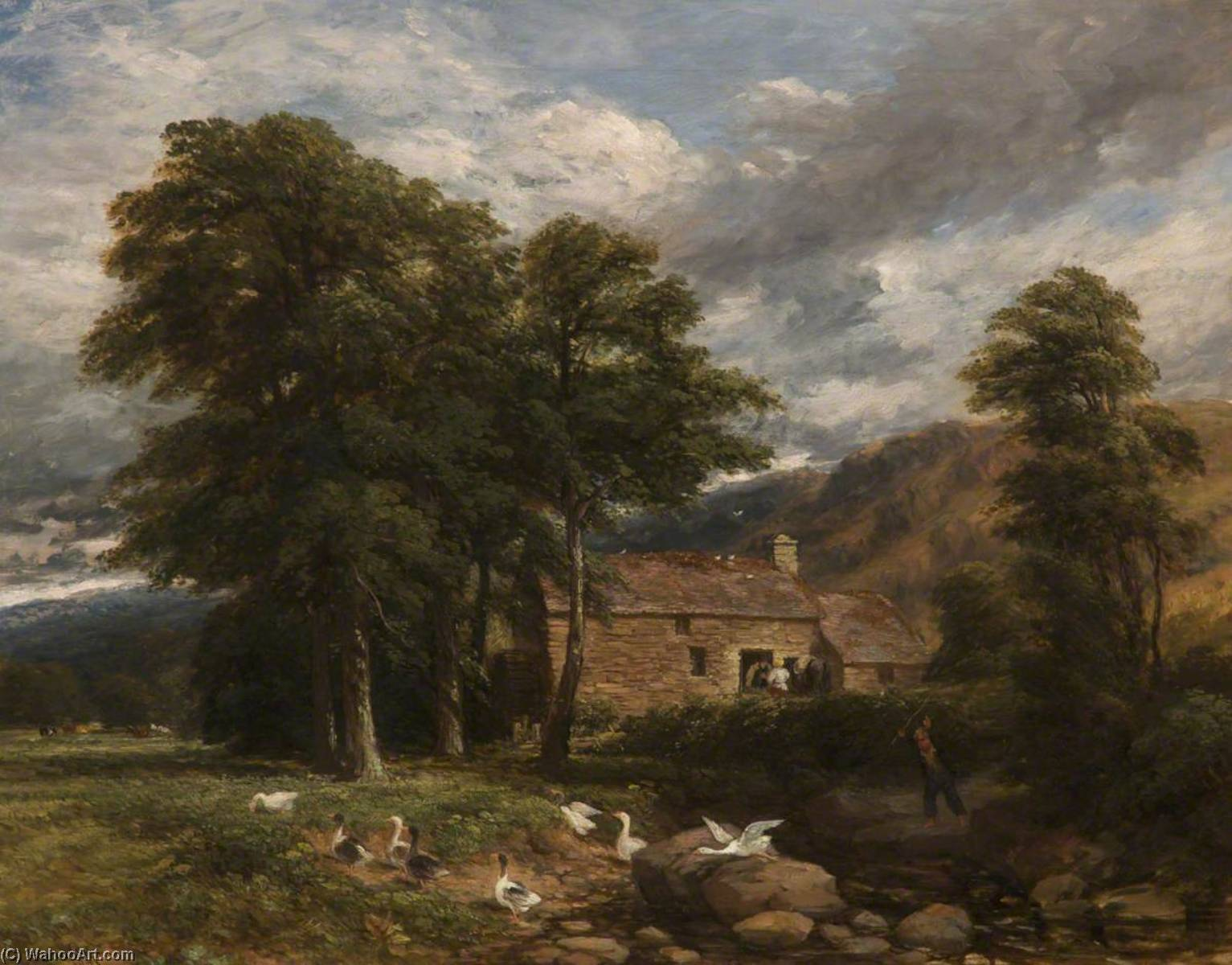 The Old Mill at Bettws y Coed, 1847 by David Cox The Elder | Paintings Reproductions David Cox The Elder | WahooArt.com