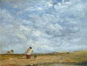 David Cox The Elder - A Windy Day