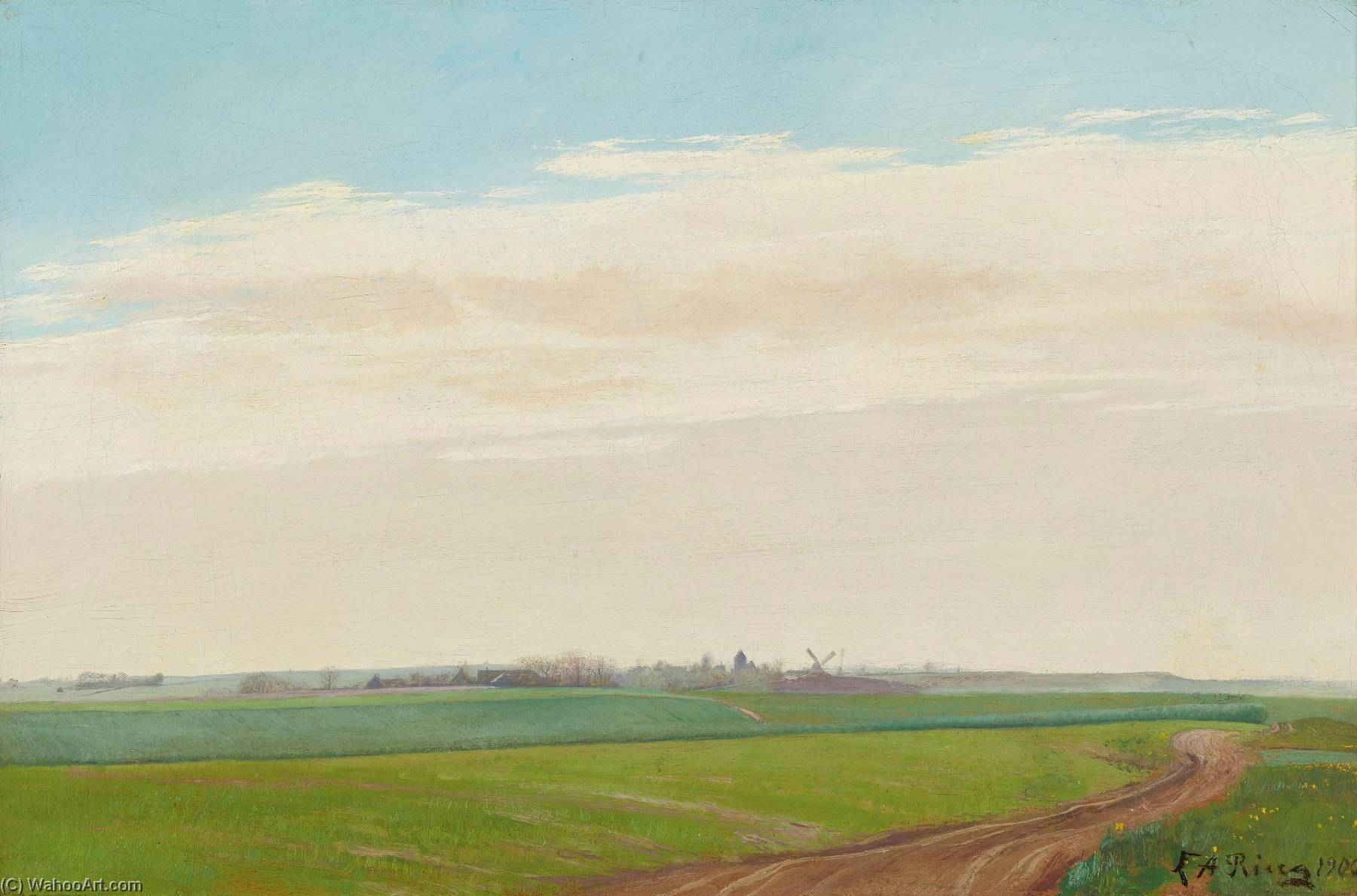 Sommerlandskab, BaldersbrØnde (Summer Landscape, Baldersbronde), Oil On Canvas by Laurits Andersen Ring