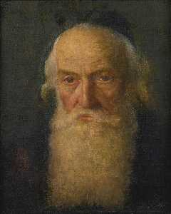 Lazar Krestin - Rabbi Reading and Portrait of a Rabbi Two Paintings