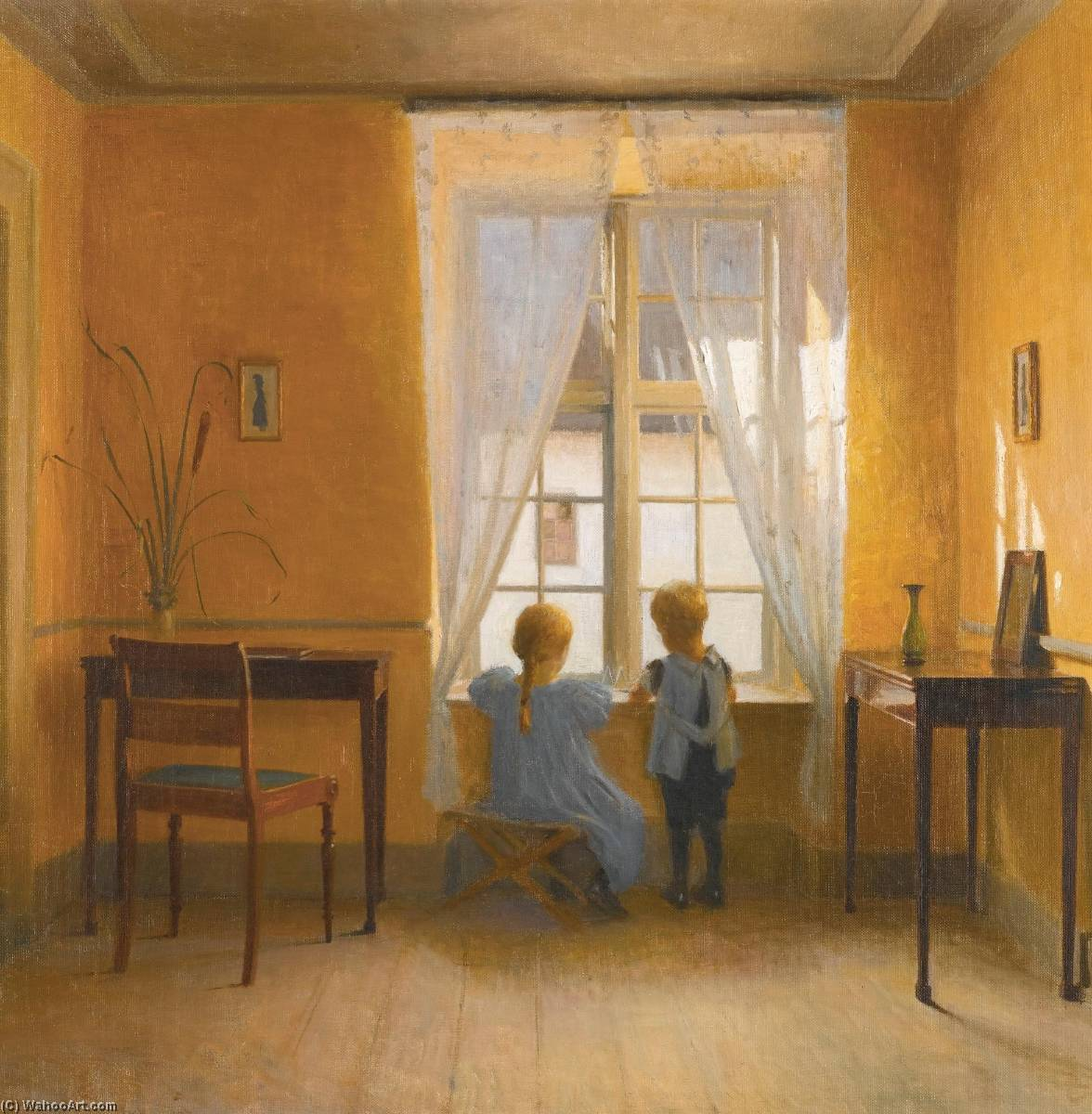 At the Window by Peder Ilsted | Museum Quality Reproductions | WahooArt.com