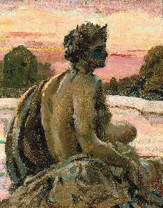James Carroll Beckwith - One of the Figures at the Parterre d-Eau