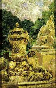 James Carroll Beckwith - Jardin de la Fontaine at Nimes, France