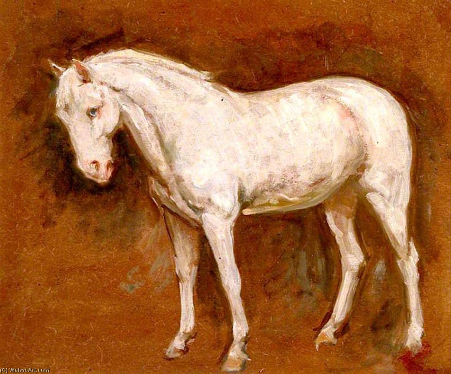 The Grey Horse, Oil On Panel by Percy Harland Fisher