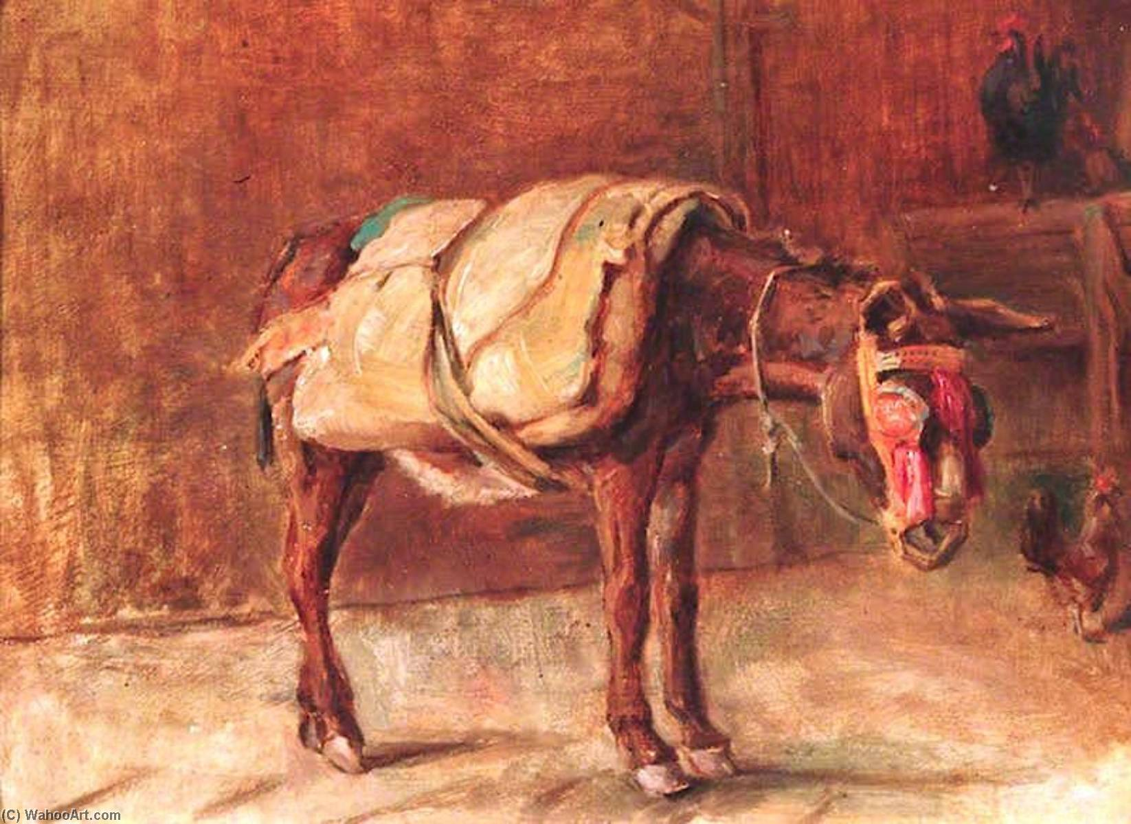 The Italian Donkey, Oil On Panel by Percy Harland Fisher
