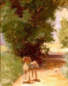 Percy Harland Fisher - Dobbin on the Path (also known as The Wooden Horse)