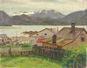 Theodore J. Richardson - In the Old Quarter, Sitka, 1900