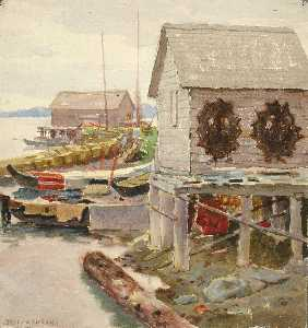 Theodore J. Richardson - Drying Skins, Sitka