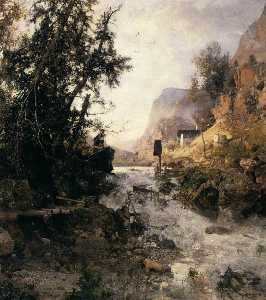 Robert Russ - Mountain Torrent after the Storm