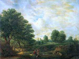 Robert Burrows - Landscape in Christchurch Park, Suffolk