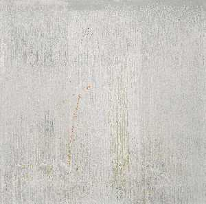 Pat Steir - Silver Sea Coast with Confetti Flies