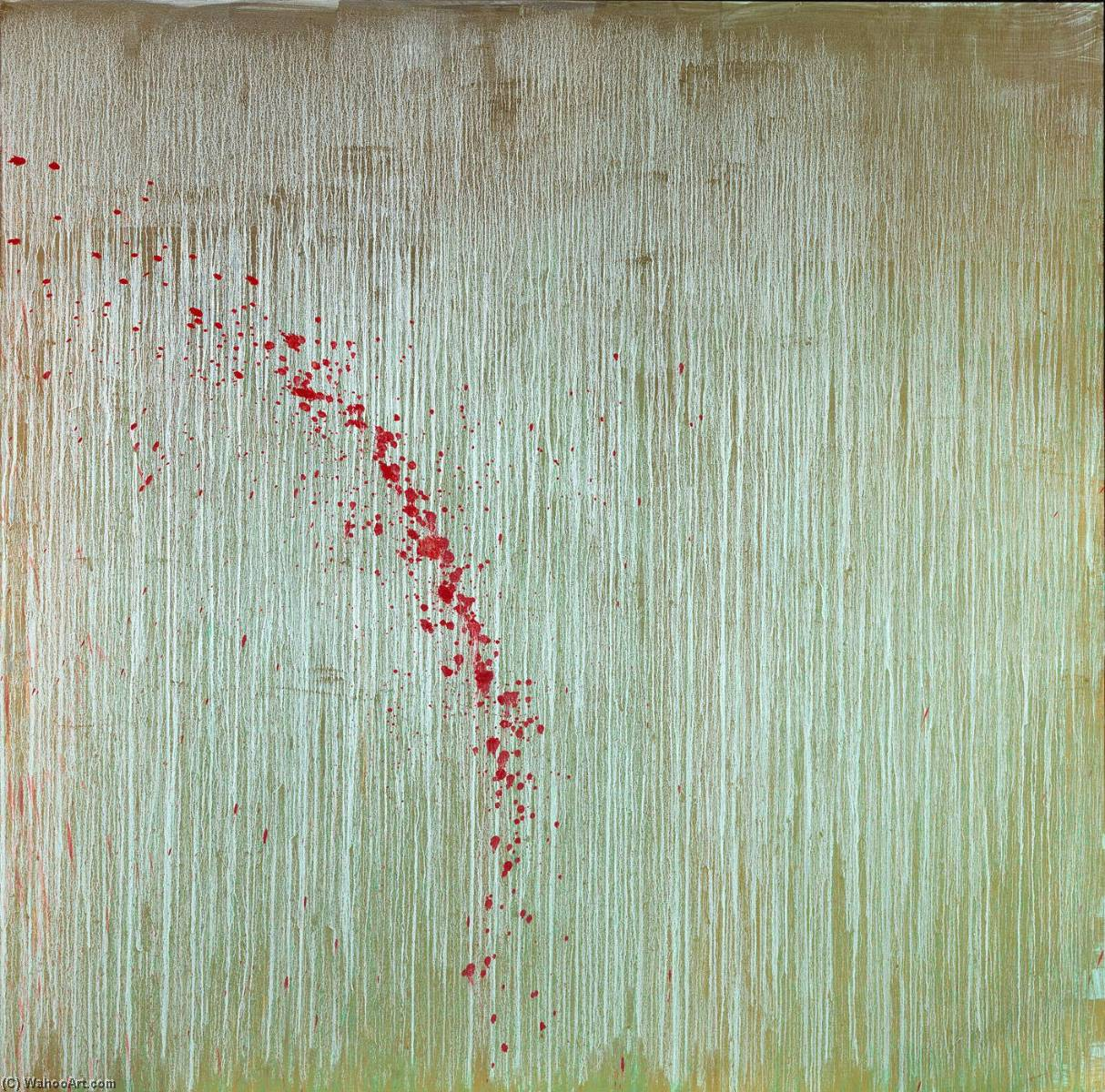 Order Museum Quality Reproductions : Gold Morning with Roses, 1999 by Pat Steir | WahooArt.com