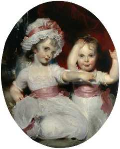 Thomas Lawrence - Emily and Harriet Lamb as Children