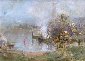Thomas Bromley Blacklock - Kirkcudbright Harbour