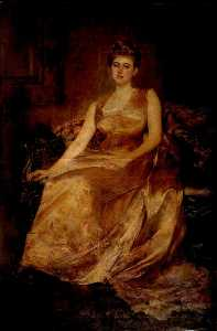 Order Art Reproductions | Mrs Morton Jackson, 1889 by Edwin Arthur Ward | WahooArt.com