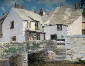 William Harold Dudley - Couches's Cottage, Polperro